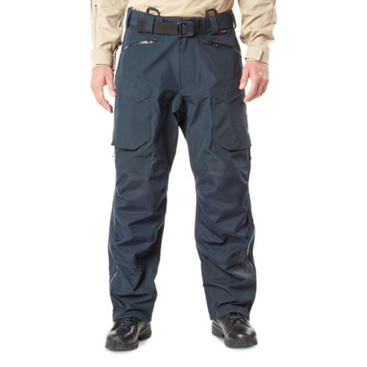 5.11 Tactical 48333 XPRT® Waterproof Men's Pants, Breathable, Adjustable Waist, Relaxed Fit, 100% Nylon, Ammo Pocket, available in Black and Dark Navy