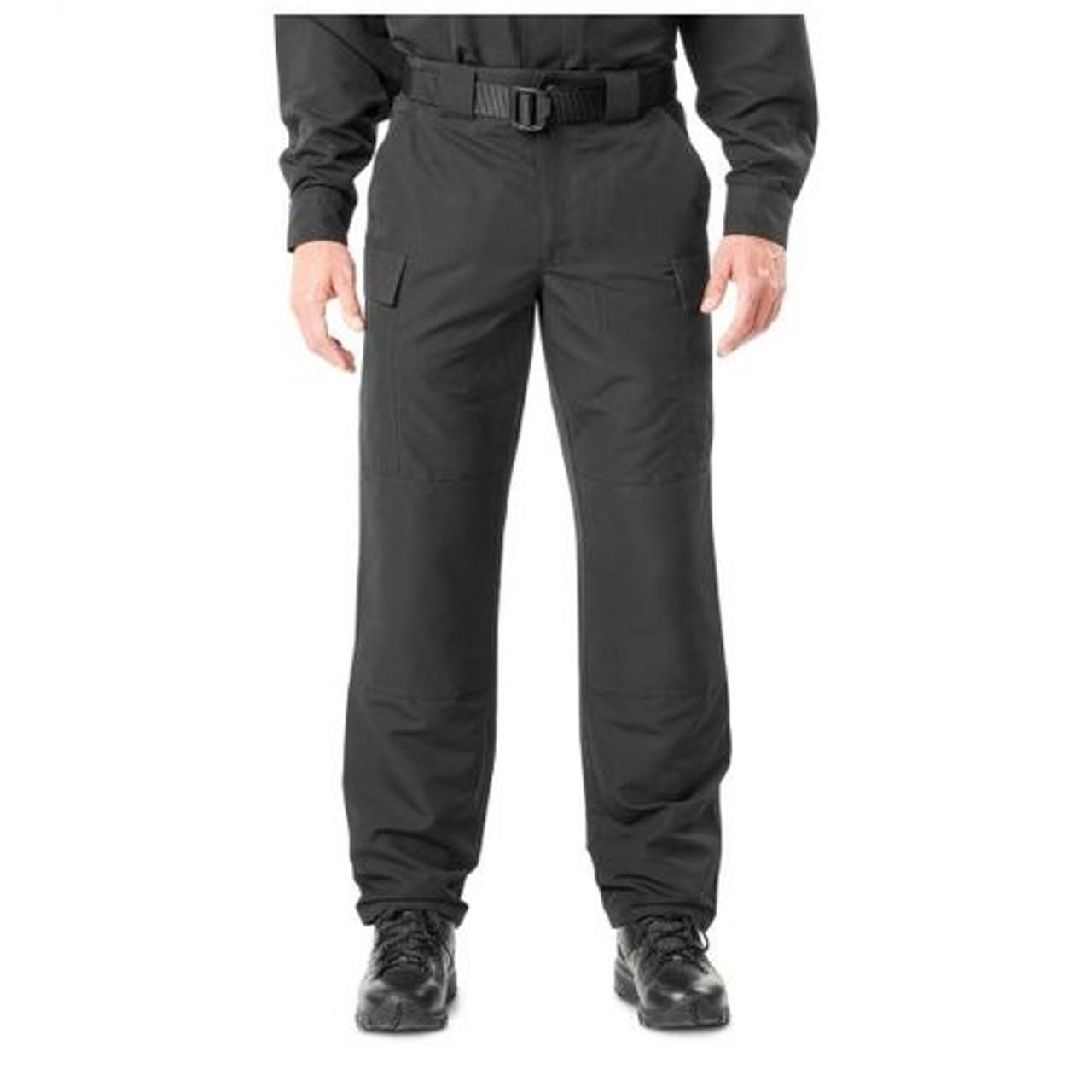 5.11 Tactical 74462 Fast-Tac TDU Tactical Uniform Pants, Classic/Straight Fit, Knee Pad Pocket, Drawstring Leg Ties, Polyester Material, Available in Black, TDU Khaki, TDU Green, or Dark Navy