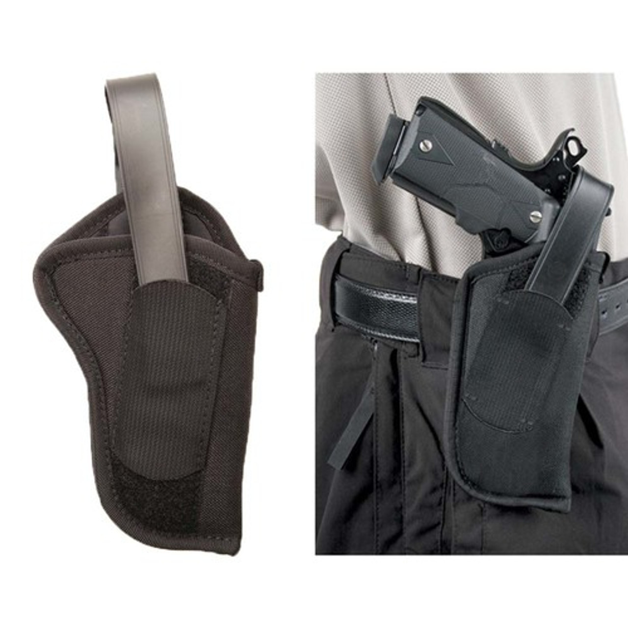 BLACKHAWK 40HT NYLON HIP HOLSTER WITH THUMB BREAK, Constructed of 1000  denier CORDURA® nylon outer material, Laminate construction for waterproof