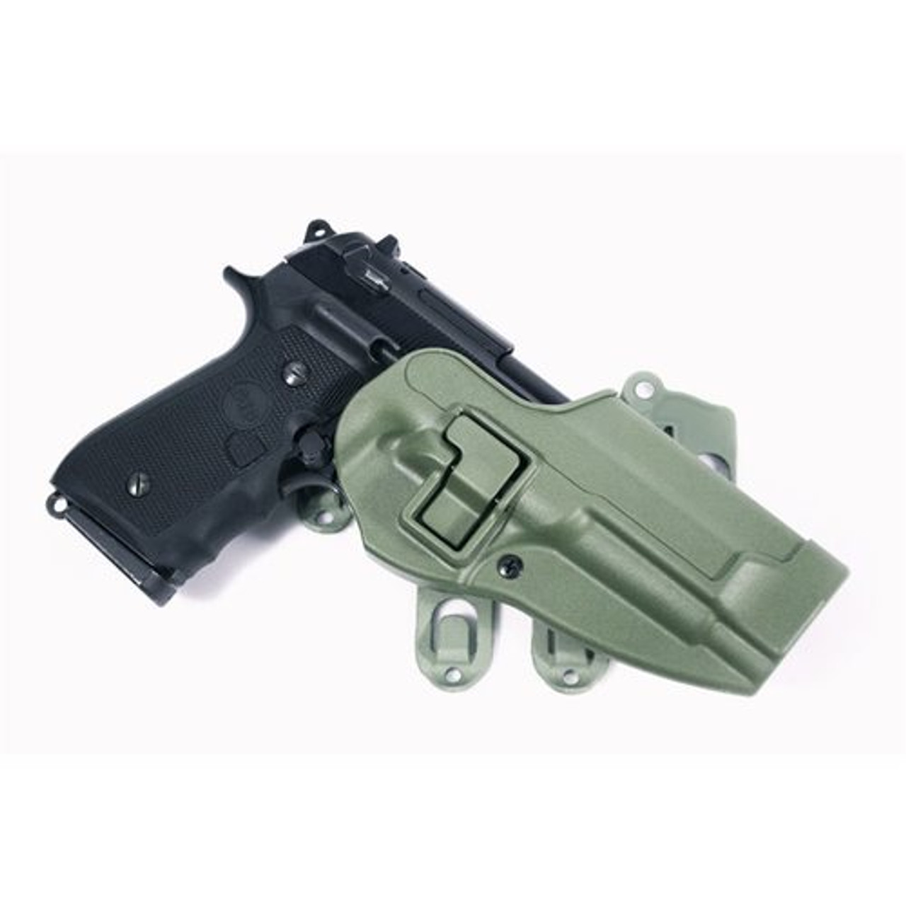 BLACKHAWK 40CL01 S.T.R.I.K.E.® PLATFORM WITH SERPA® HOLSTER, BERETTA ONLY, Ambidextrous adapter platform, available in Coyote Tan and Foliage Green