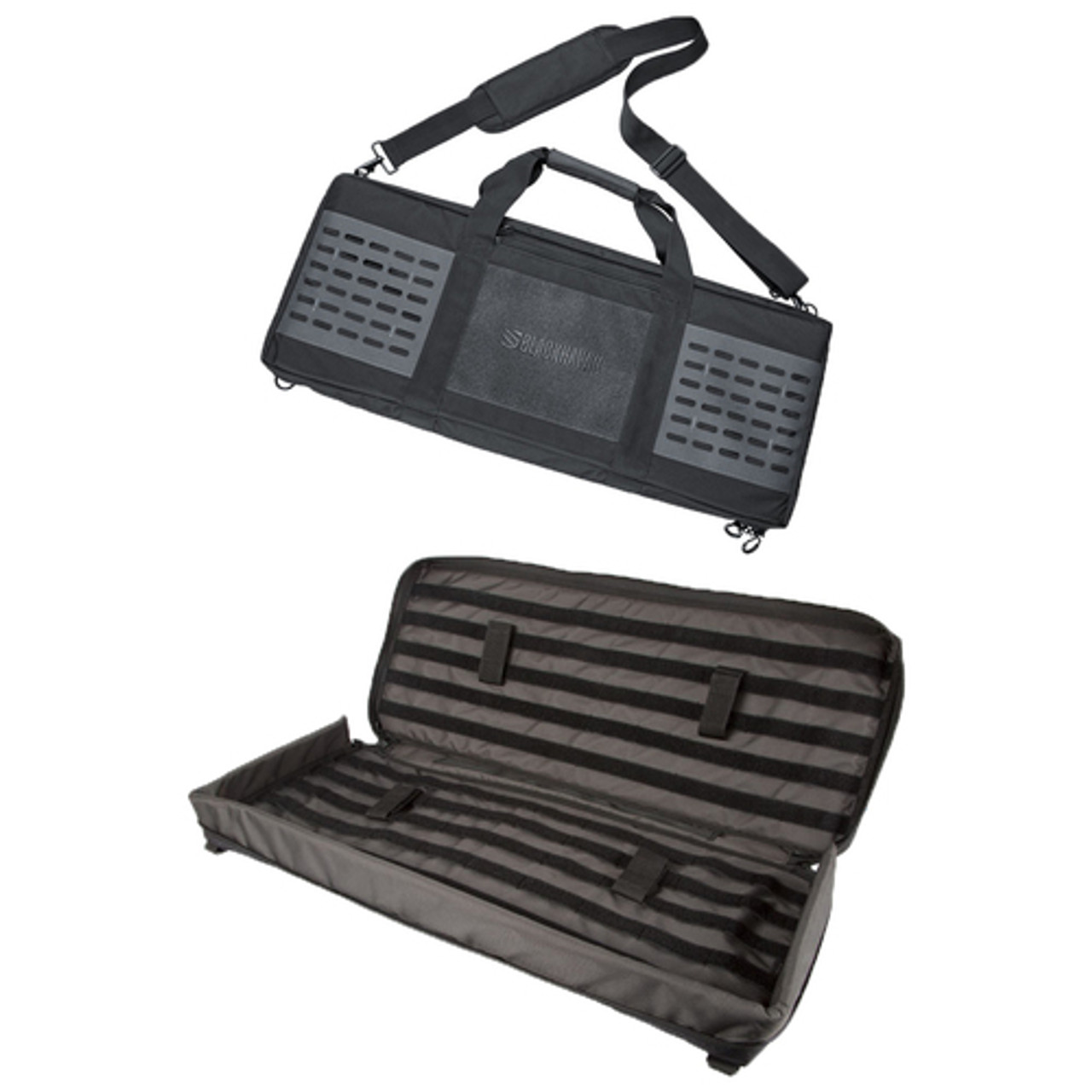 """BLACKHAWK! 61FD30 FOUNDATION 30"""" RIFLE CASE, 500D nylon construction, YKK zippers, metal D-rings and padded carrying strap, Integrated sleeve ideal for storing cleaning rods"""