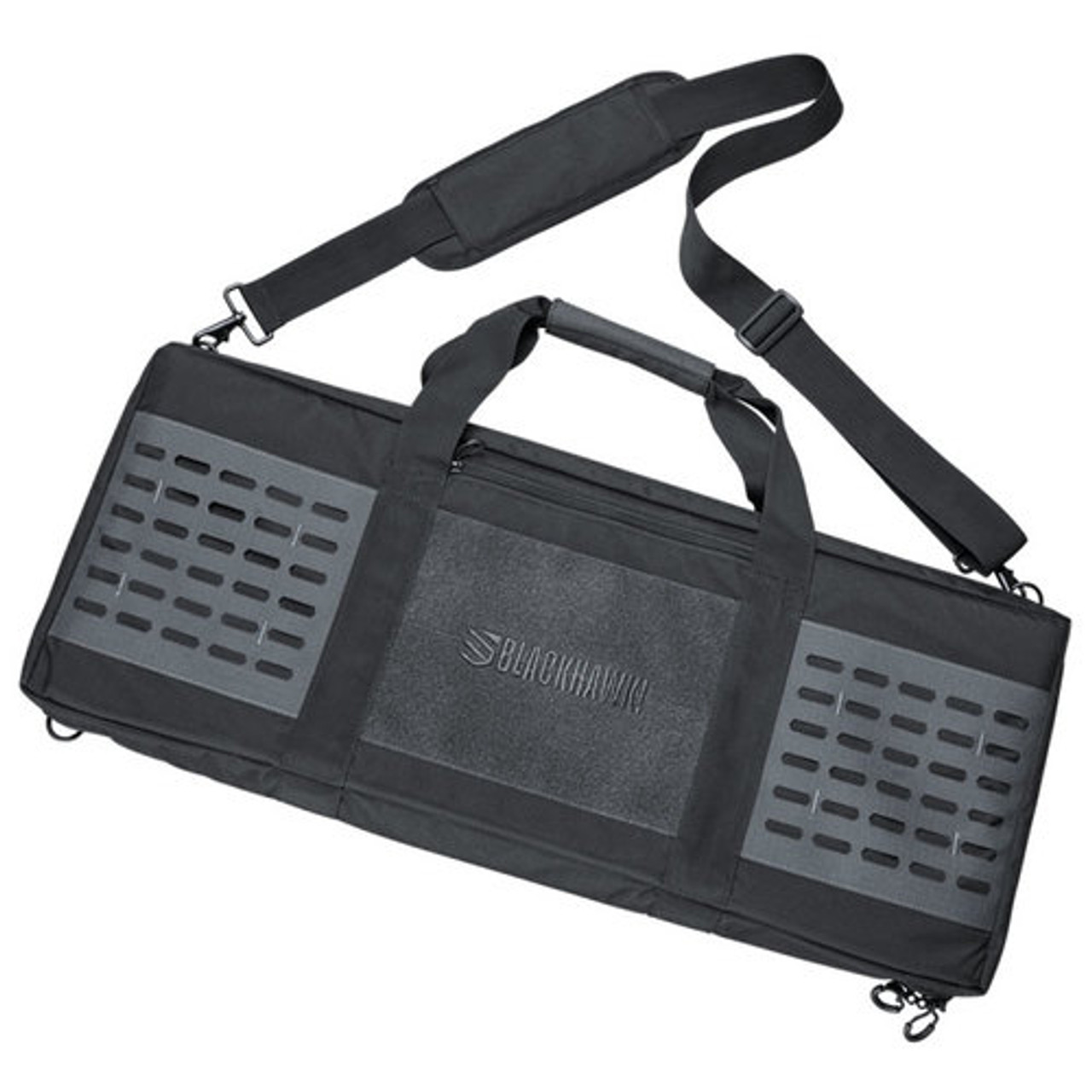"BLACKHAWK! 61FD30 FOUNDATION 30"" RIFLE CASE, 500D nylon construction, YKK zippers, metal D-rings and padded carrying strap, Integrated sleeve ideal for storing cleaning rods"