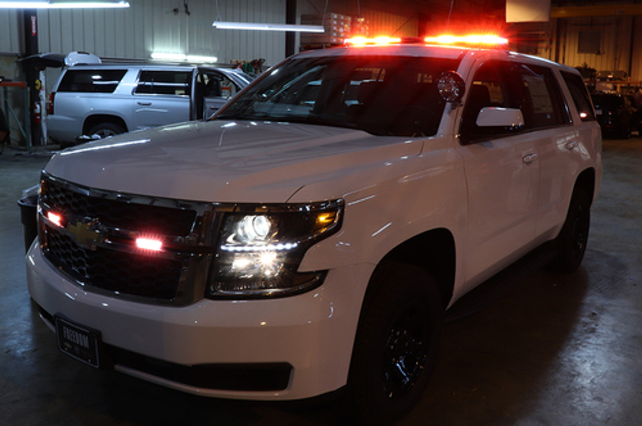 New 2019 White Tahoe PPV  for Fire-EMS with Red-White LEDs - Admin Turnkey Package, 2WD, + Delivery
