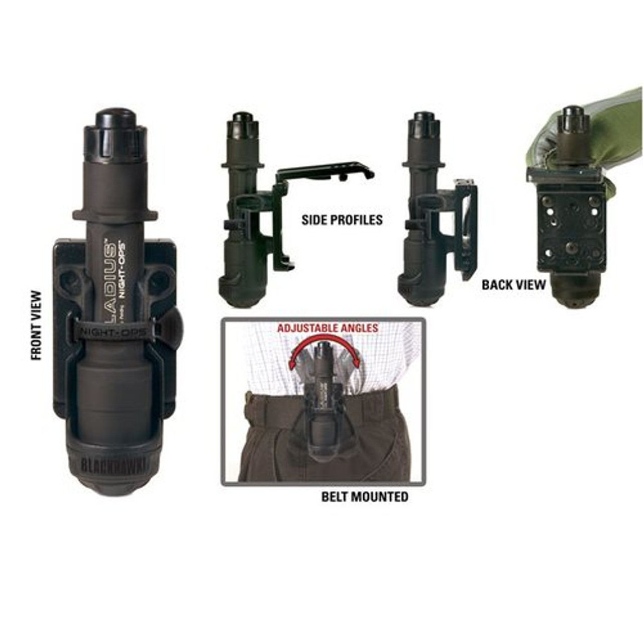 Blackhawk! 75GH00BK Night-Ops® Flashlight Holder with Mod-U-Lok™ Platform