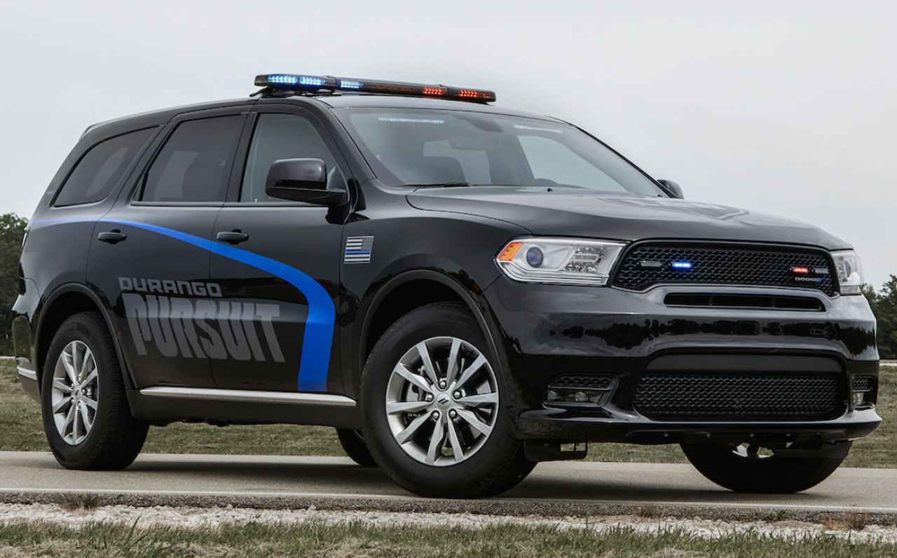We have Black and White AWD 2019 Durango PPV Police Pursuit V6 SUVs In Stock, call today for a quote
