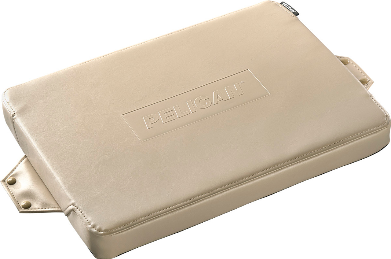 Pelican 50Q-SEAT-TAN Seat Cushion for 50QT Elite Cooler, Attaches easily and securely with included stainless steel self-tapping studs, available in Tan