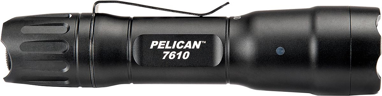 Pelican Tactical LED Flashlight, With Four programmable modes High / Strobe / Medium / Low, 1018 lumens, Black 7610