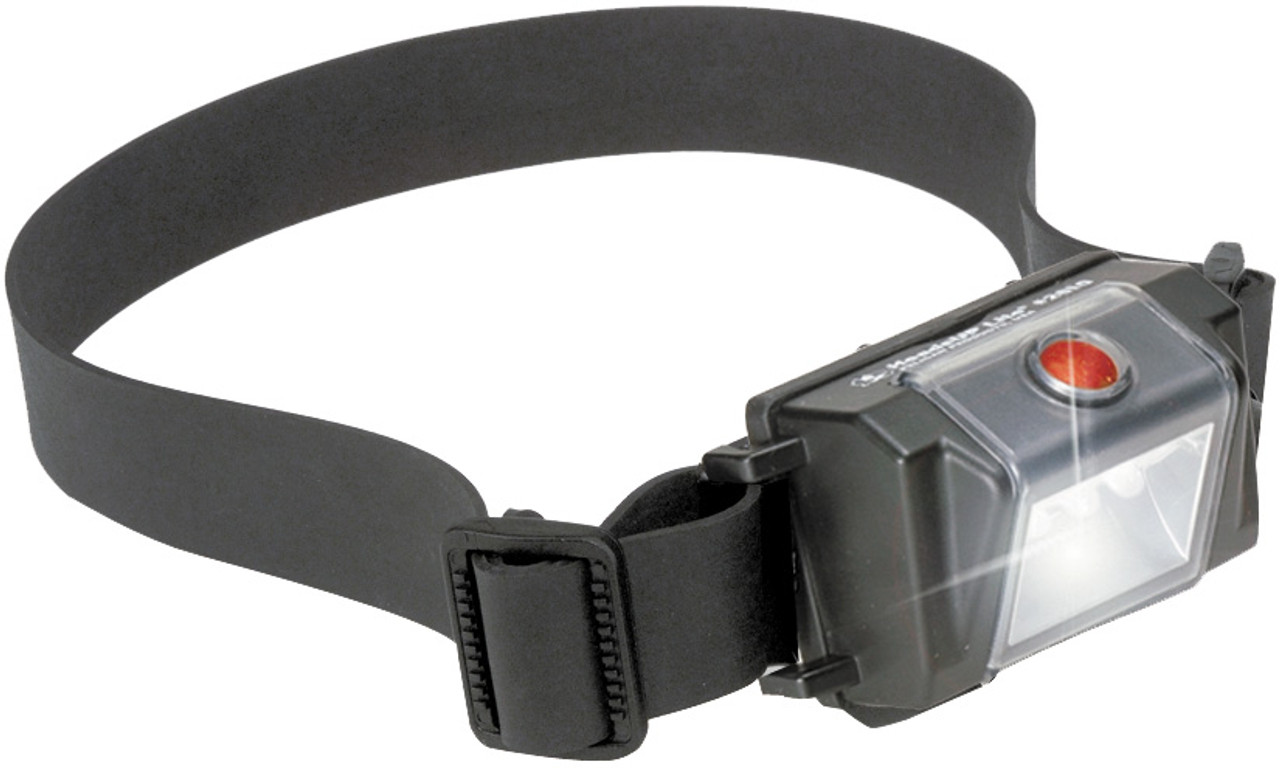 Pelican HeadsUp Lite™ LED Headlamp, Light weight, comfortable and well-balanced, Black 2610