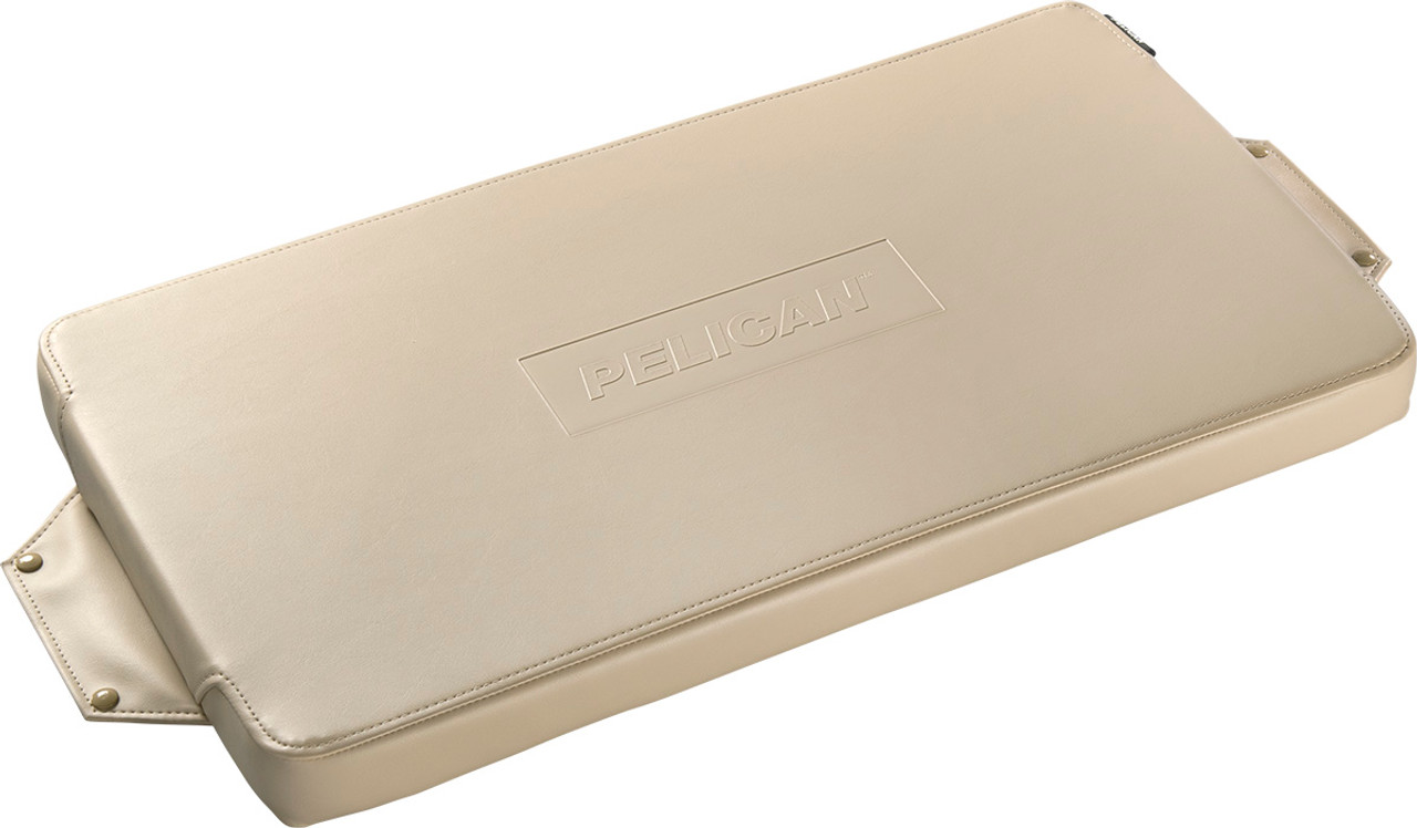Pelican 70Q-SEAT-TAN Seat Cushion for 70QT Elite Cooler, Attaches easily and securely with included stainless steel self-tapping studs, available in Tan