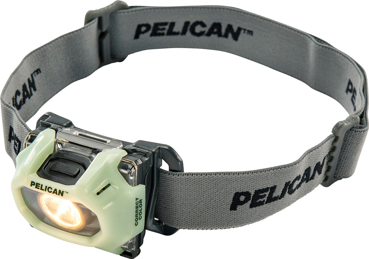 Pelican LED Headlamp, 183 Lumens, 2 Modes: High / Low, Photoluminescent 2750CC