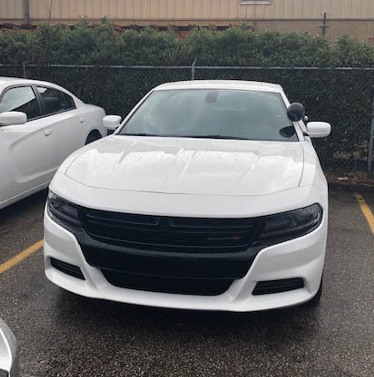 New 2019 White Dodge Charger V6 2WD ready to be built as a Marked Patrol Package Police Pursuit Car,  choose any color LED Lights, + Delivery