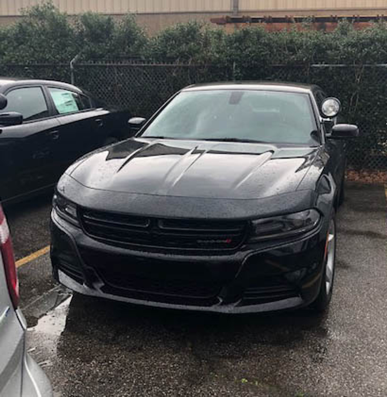 New 2019 Black Dodge Charger V6 2WD, ready to be built as a Slick-Top Patrol Package Police Pursuit Car,  choose any color LED Lights, + Delivery