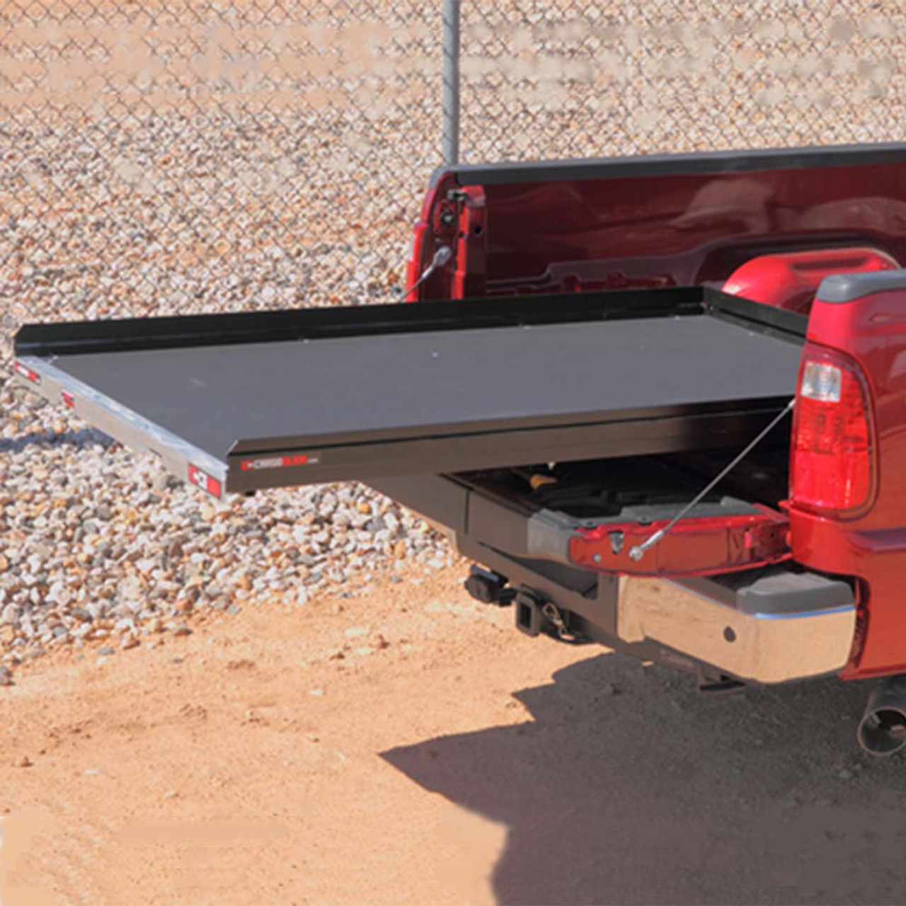 "Cargo-Glide CG1000 Ford Raptor, Steel Truck-Bed Slide and Extender, 1000 lb capacity, 65-75% Extension, 4"" side rails, 3.875"" deck height, includes installation kit"