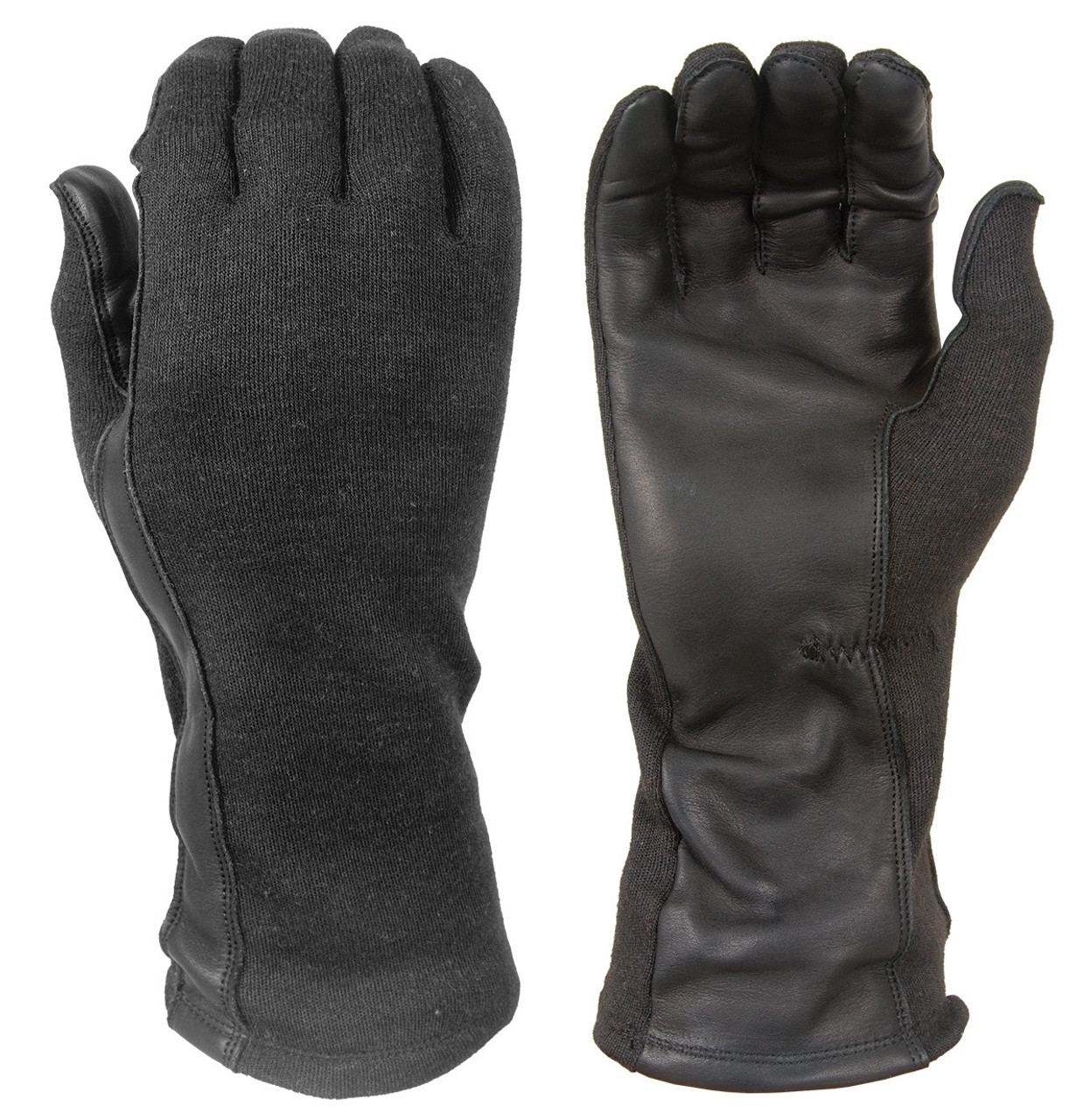Damascus DNXF190-B, Police Riot Gear,  FLIGHT GLOVES WITH NOMEX® AND LEATHER PALMS, Tactical Gloves with DuPont Nomex® fabric and thread, Flame and flash protective to 800˚F (427˚C), made to the standard of U.S. Mil Spec