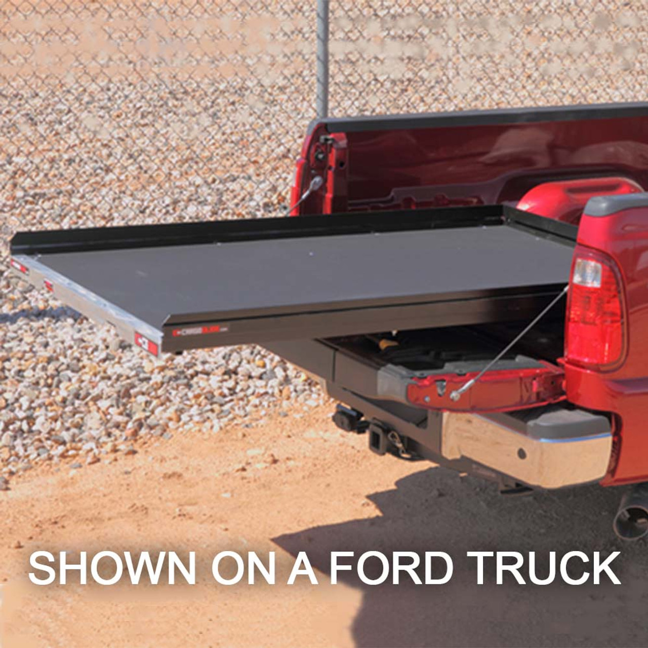 """Cargo-Glide CG1000 Nissan Frontier, Bed Steel Truck-Bed Slide and Extender, 1000 lb Capacity, 65-75% Extension, 4"""" Side Rails, 3.875"""" Deck Height, Includes Installation Kit"""