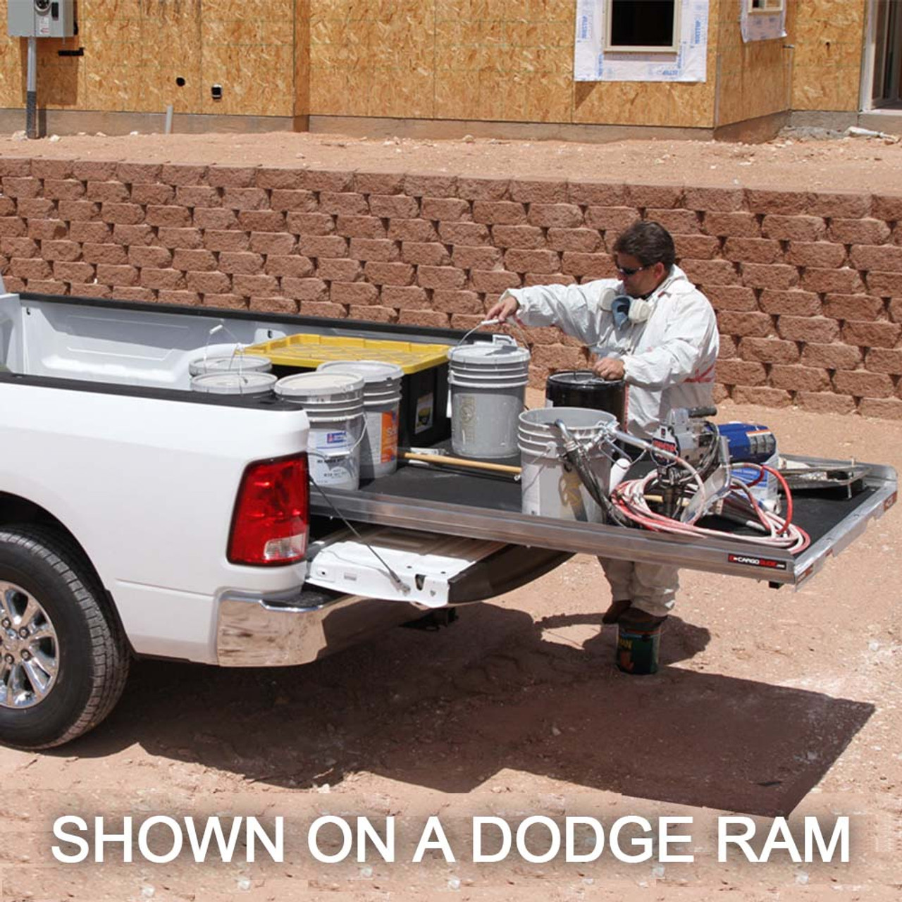"Cargo-Glide CG1200 Nissan Titan King Cab Steel Truck-Bed Slide and Extender, 1200 lb Capacity, 65-75% Extension, 4"" Side Rails, 3.875"" Deck Height, Includes Installation Kit"