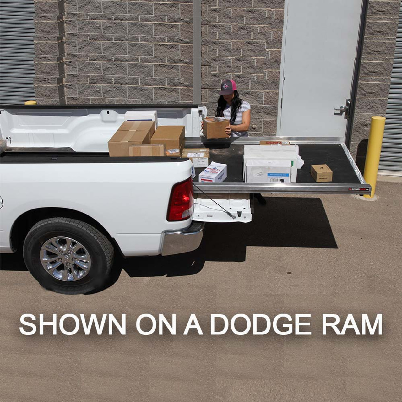 "Cargo-Glide CG1000 Toyota Tundra Steel Truck-Bed Slide and Extender, 1000 lb Capacity, 65-75% Extension, 4"" Side Rails, 3.875"" Deck Height, Includes Installation Kit"