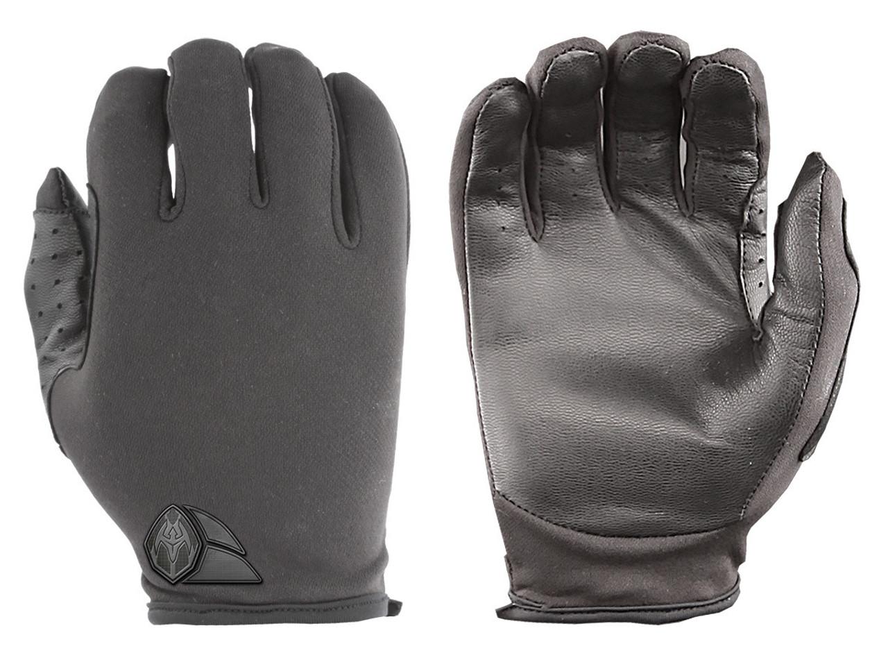 ATX Duty Advanced Police Riot Gear Tactical Gloves ATX5 Lightweight thin patrol w/ lycra back, leather palms, Slip-on construction with zero bulk, Lightweight Lycra® twill backhands