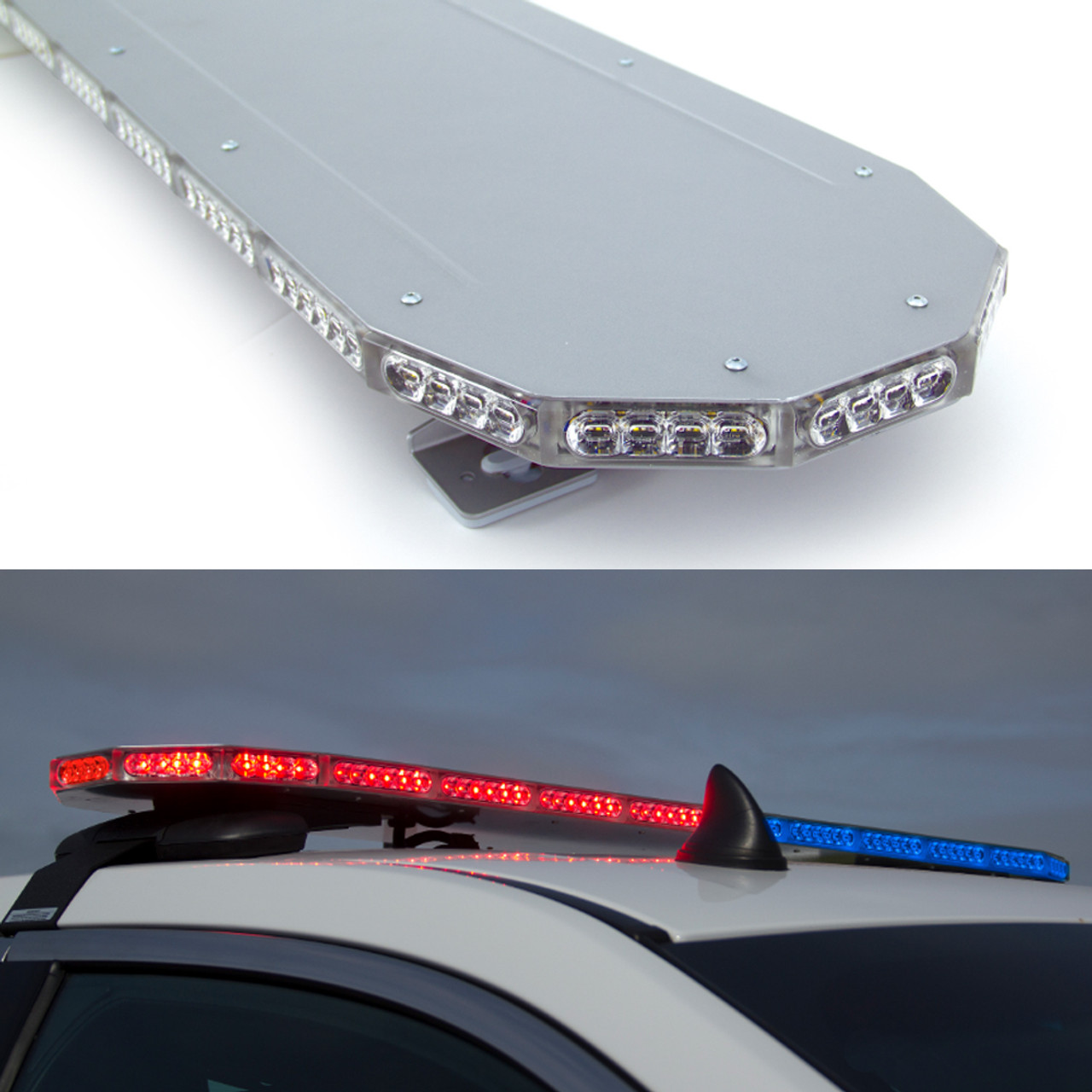 Soundoff mPower LED Light Bar for Police and Emergency Vehicles, 42 48 or 54 inch, Dual Color LEDs
