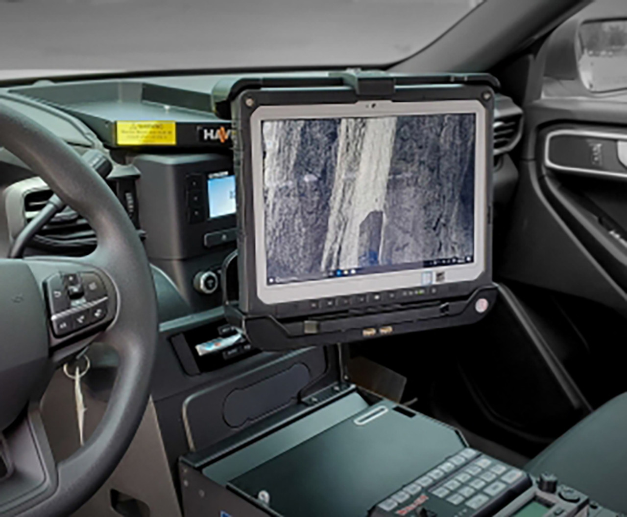 Havis C Dmm 3015 Ford Police Interceptor Pi Utility 2020 Dash Mount For Monitors Or Tablets Swing Out Or Flip Up 12 Lb Weight Capacity