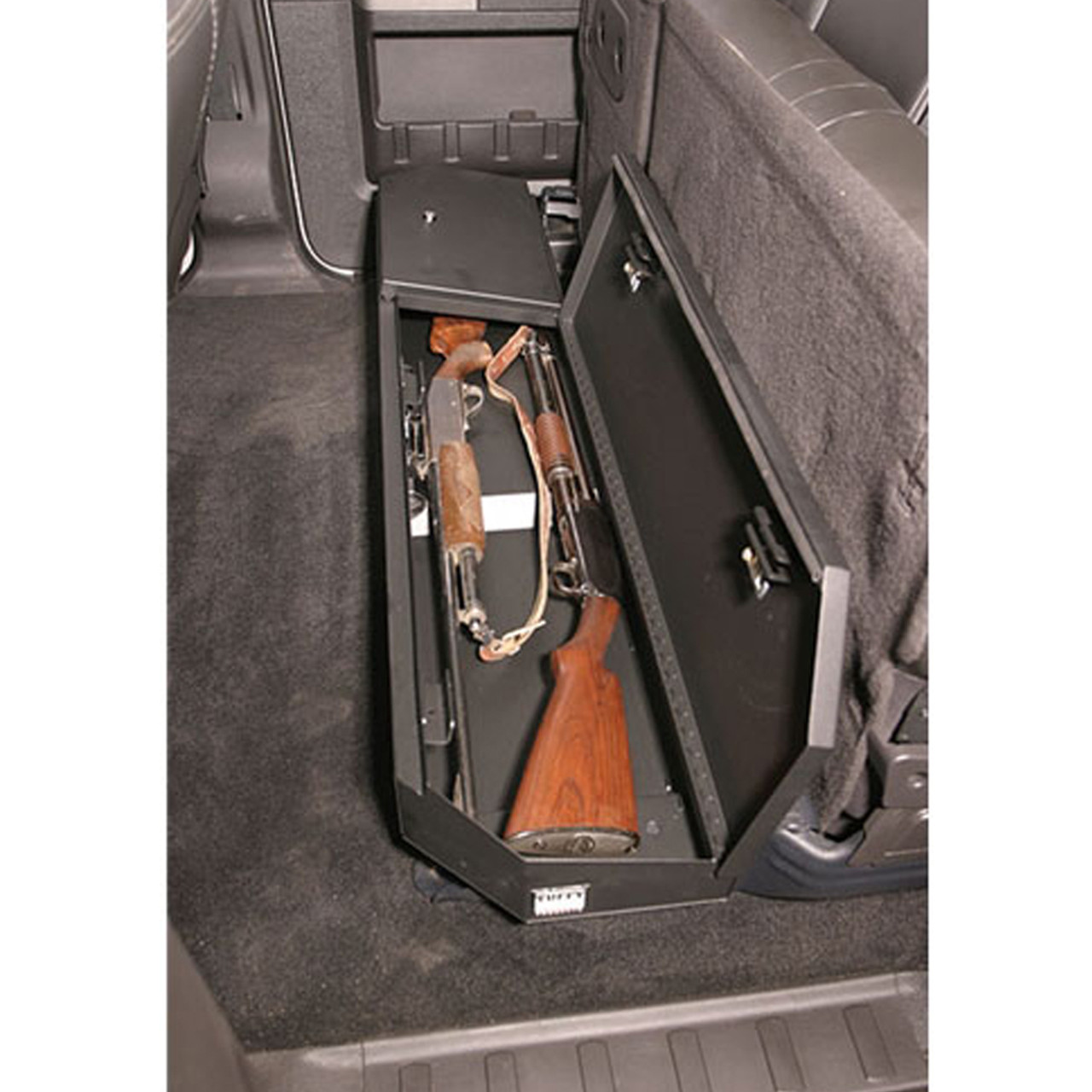 Tuffy Security 309-01 Ford F-250 and F-350 Crew Cab 2003+ Under Rear Seat Lockbox, 58x11x3, Weather Resistant, Welded 16 Gauge steel construction, Durable texture powder coat finish
