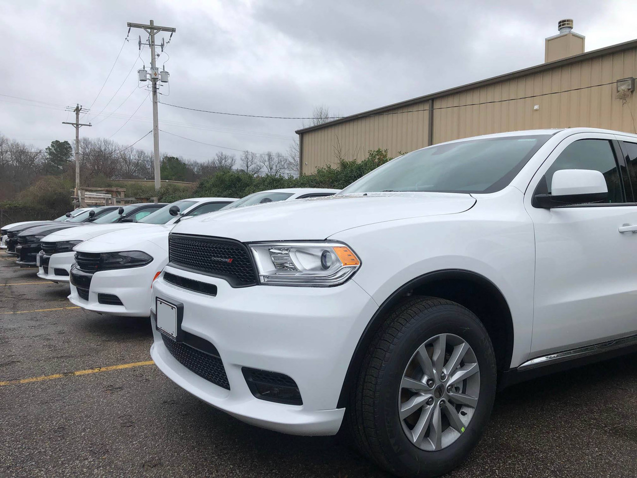 New 2019 White Dodge Durango Police Package V6 AWD All-Wheel Drive, ready to be built as a Marked Patrol Package, choose any color LED Lights, + Delivery