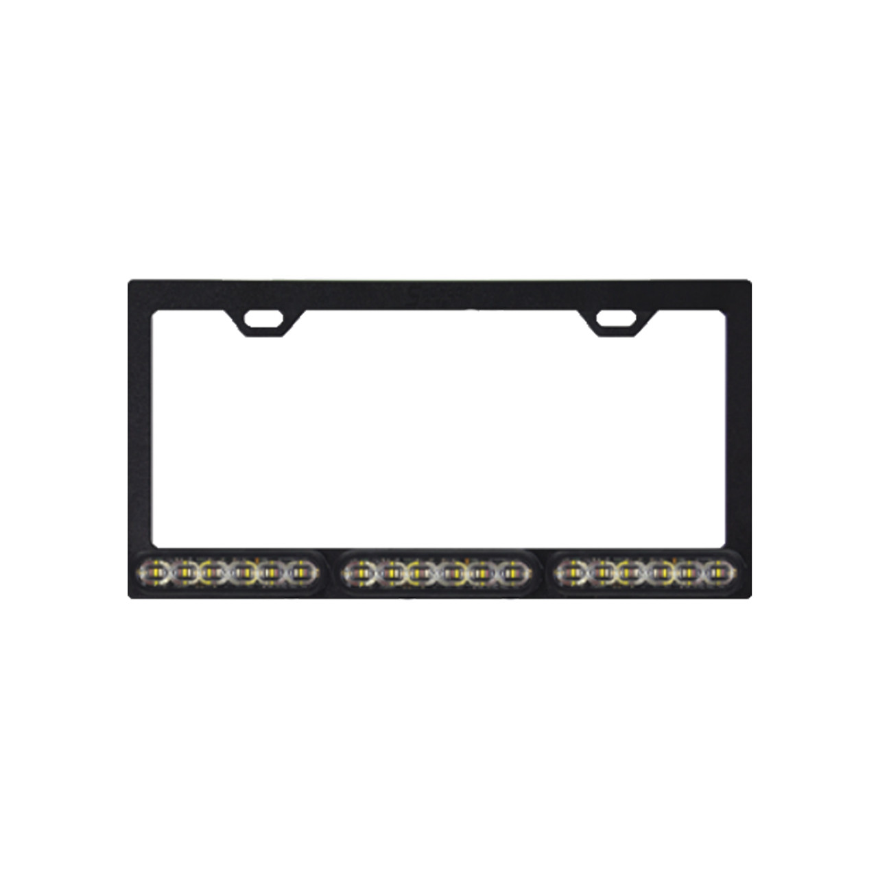 SoundOff mpower 4 Inch Quick Mount License Plate Frame, choose single 6-LED or dual 12-LED Color Lights