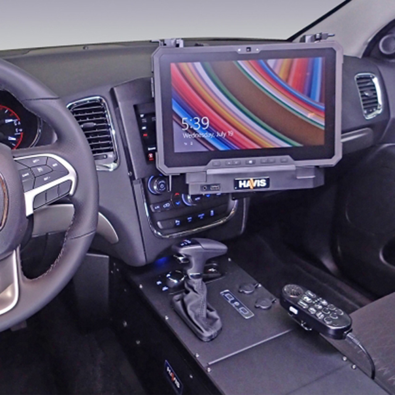 Havis C Dmm 3004 Dash Swing Out Monitor Or Tablet Mount For 2014 2019 Dodge Durango