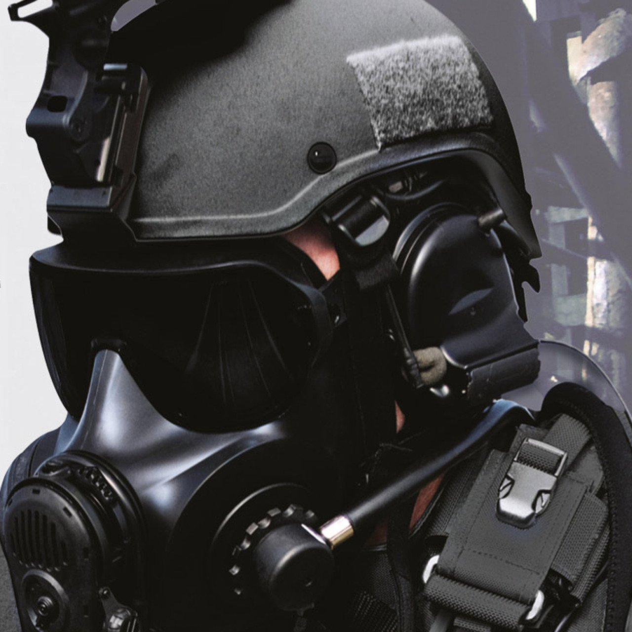 Avon Protection ST53 Twin Port Special Responder Kit Total Respiratory Protection System, Combines FM53 with advanced breathing apparatus for up to 45 Minute Applications