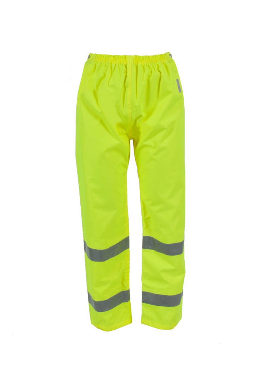 Neese 9100ET Air Tex High Visibility Uniform Trousers, 2 inch Silver Reflective Tape, Waterproof, Windproof and Breathable, Lime Color