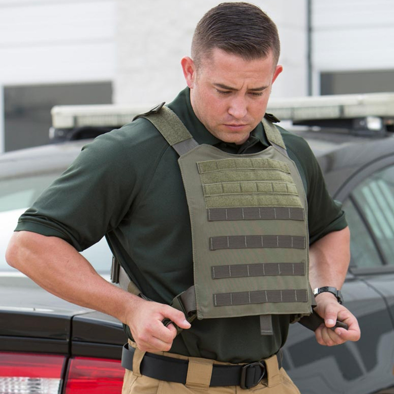Propper CRITICAL RESPONSE® KIT, black, one-size-fits-all, includes Level 4 Bulletproof Plates (front and back), Exterior Vest, Bag, & Placards, In Stock