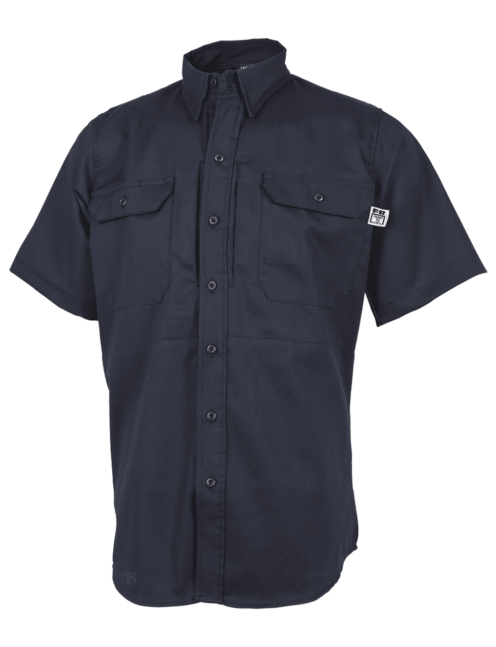 Tru-Spec 1449 XFIRE Short Sleeve Uniform Shirt, 100% Cotton, 2 Chest Pockets, Regular Length, Navy