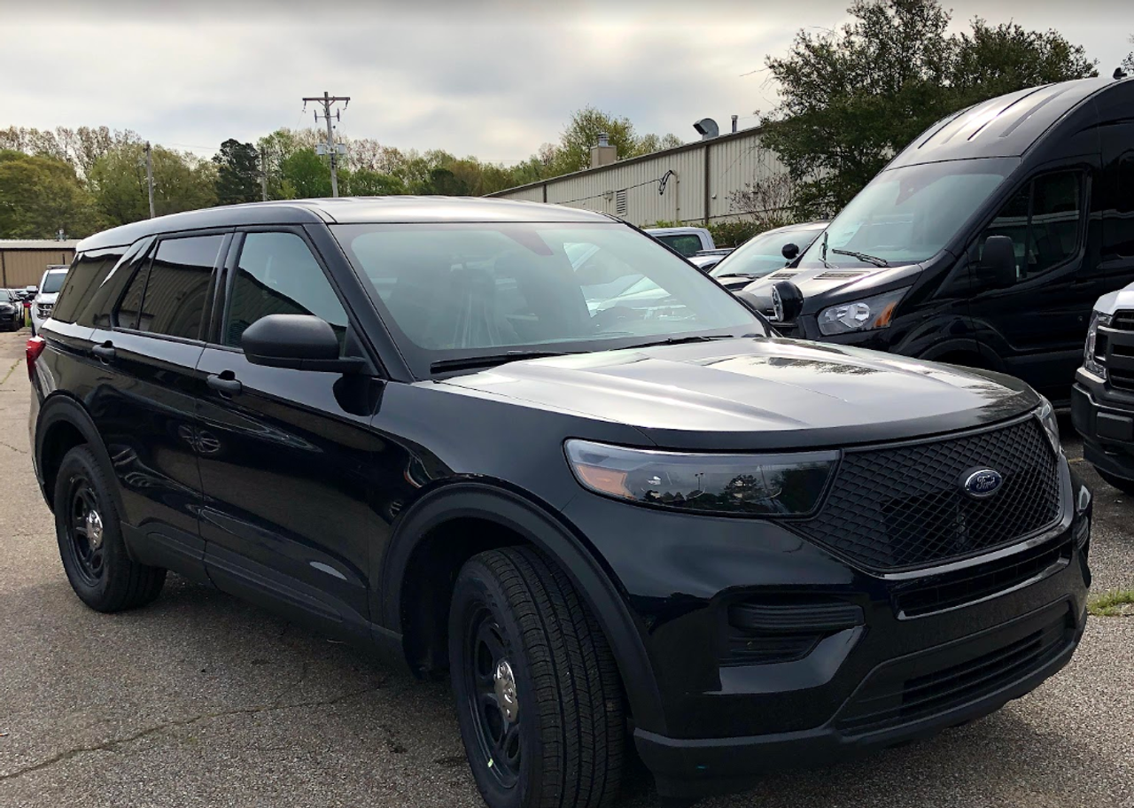 New Black 2021 Ford (Explorer) Police Interceptor PI Utility V6 Gas Engine AWD For Sale, Ready to be Built as a Marked Patrol, Turnkey FPIU, featuring Whelen, Soundoff, Setina, Havis, + Delivery, choose Your LED Lighting Colors