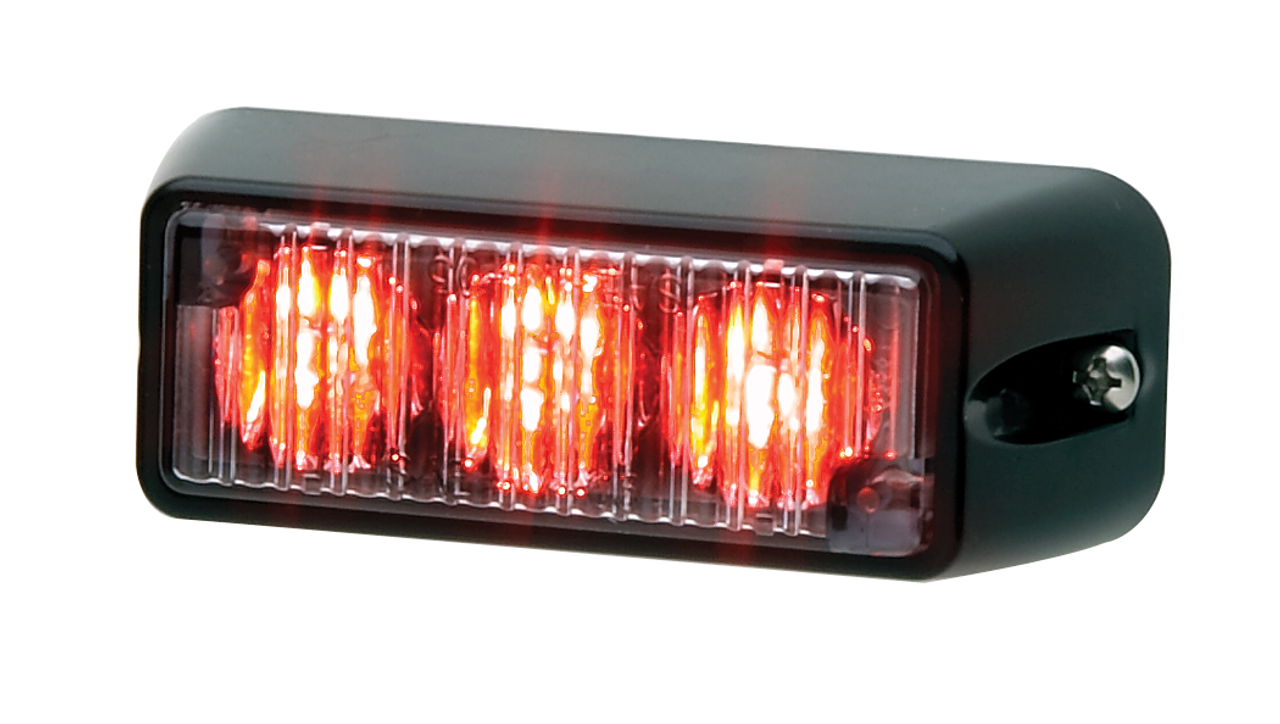 Whelen TIR3 LED Flush Surface Mount Light Head, Vertical or Horizontal Mount Available, with 25 Scan-Lock™ Flash Patterns and Synchronize Feature