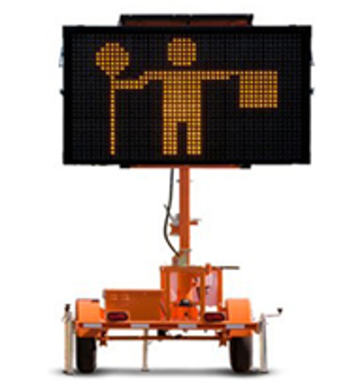 Wanco Mini-Matrix Message Board Sign and Trailer, Full Graphic Display, Solar and Battery Powered WVTM