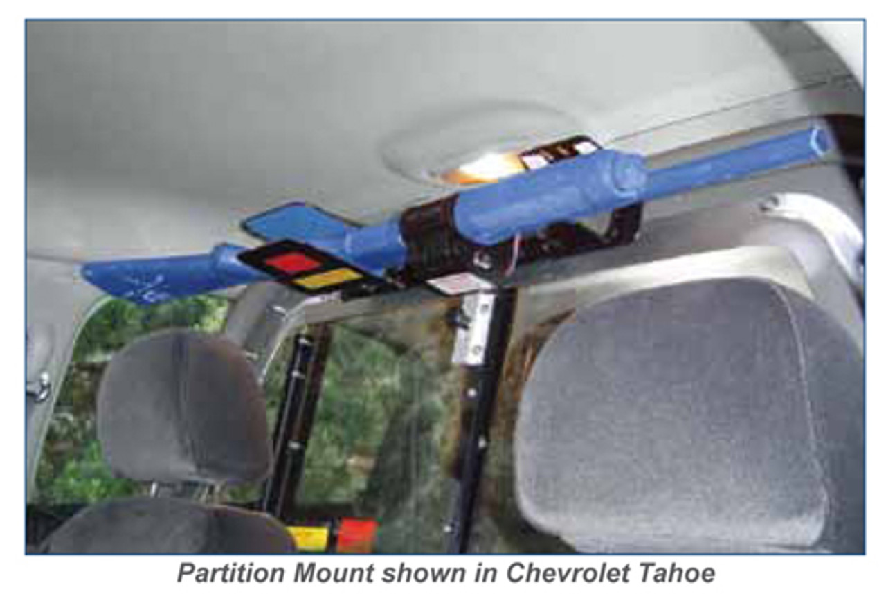 Gun Rack for Police Vehicles by Progard G5000 Horizontal Partition or Trunk Mount