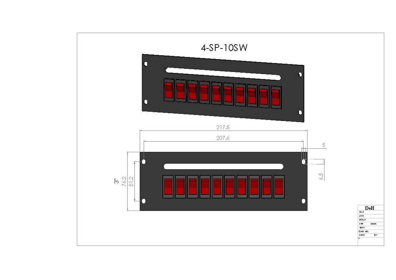 10 Rocker Switches Switch Plate Fleet Safety