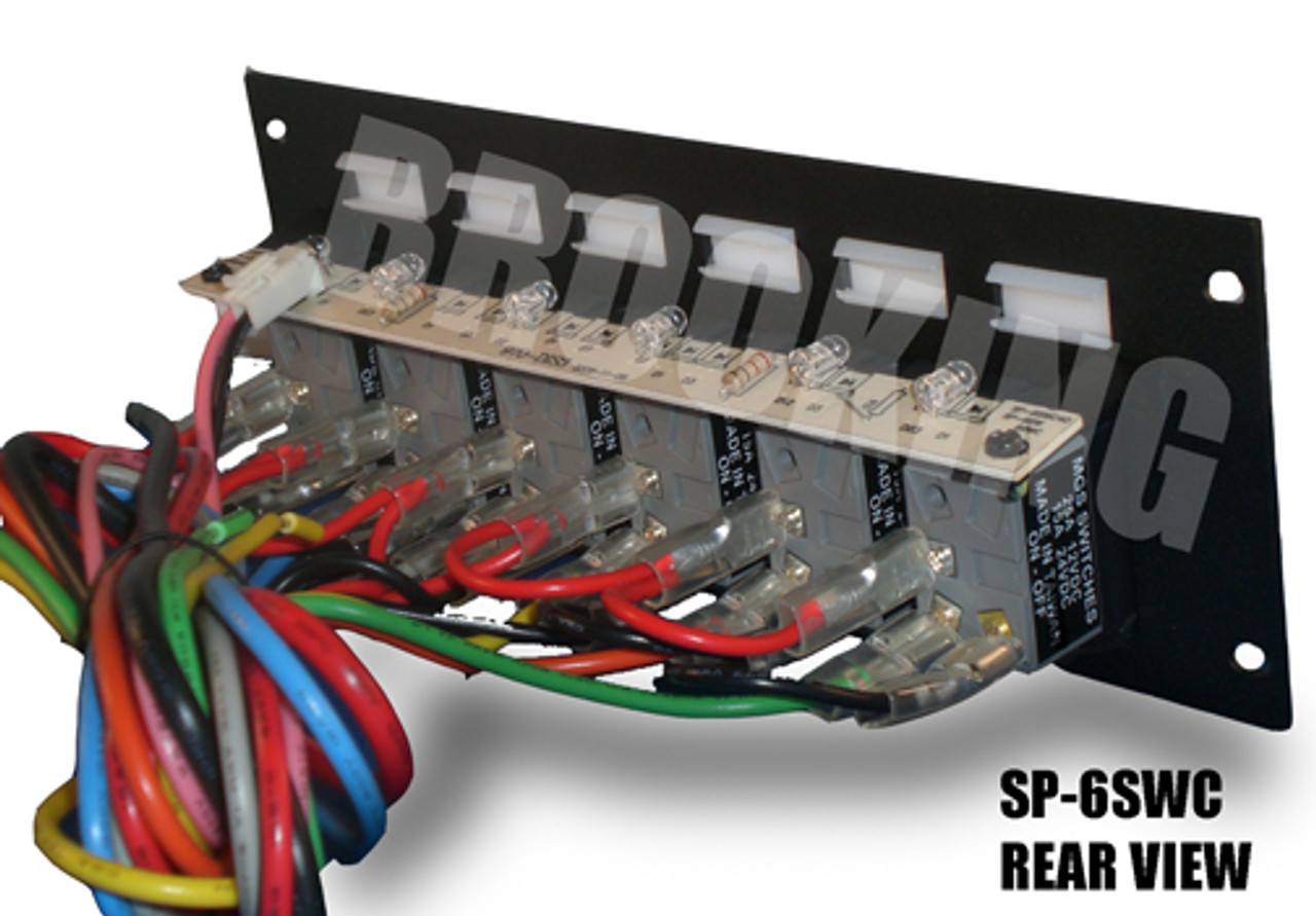 Brooking SP-6SWC 6 Carling Switch Plate with LED Backlighting, Durable, powder-coated steel plate