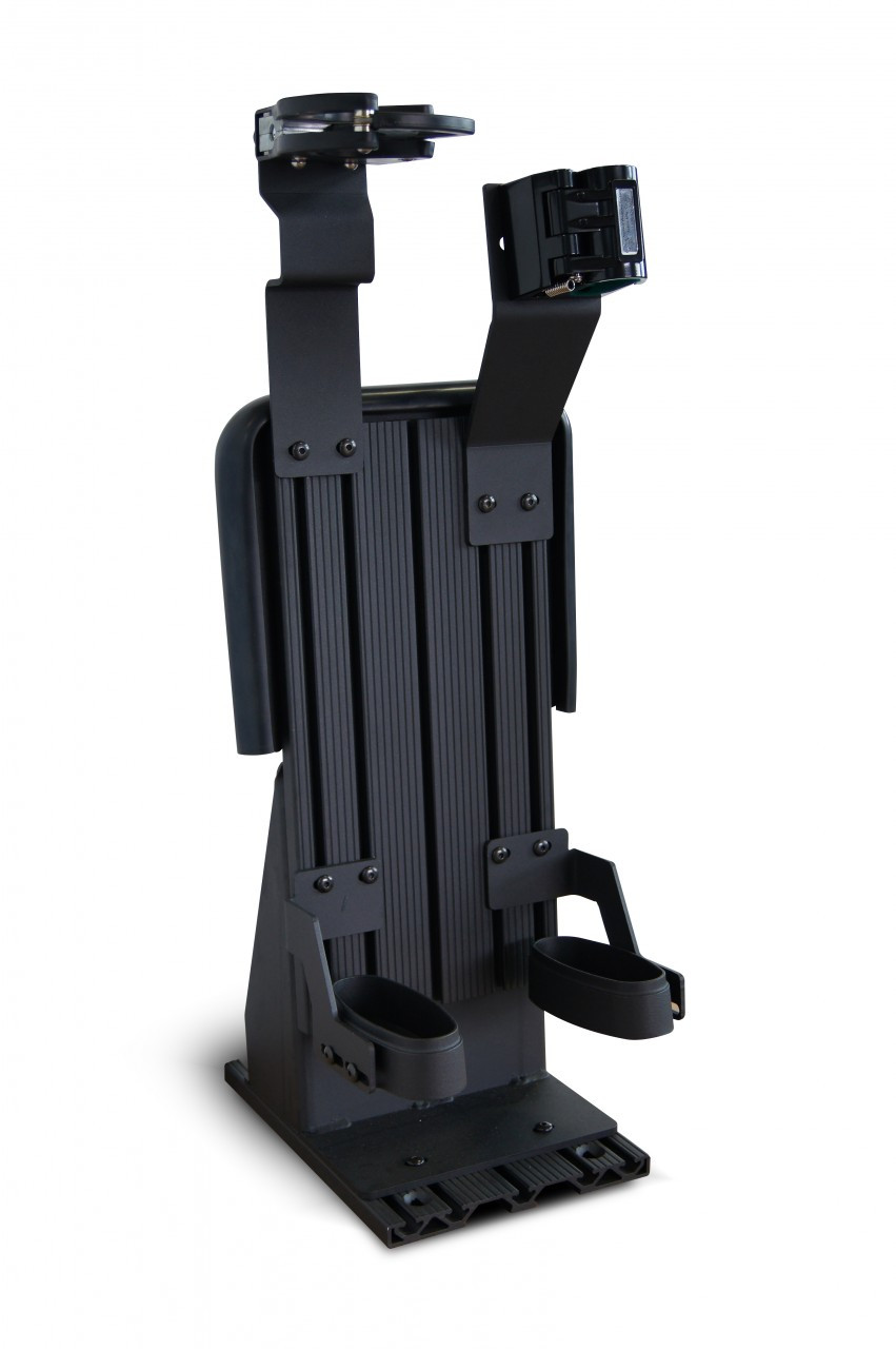 Gun Rack for Police Vehicles by Setina - Partition Mount or Free Standing Weapon System