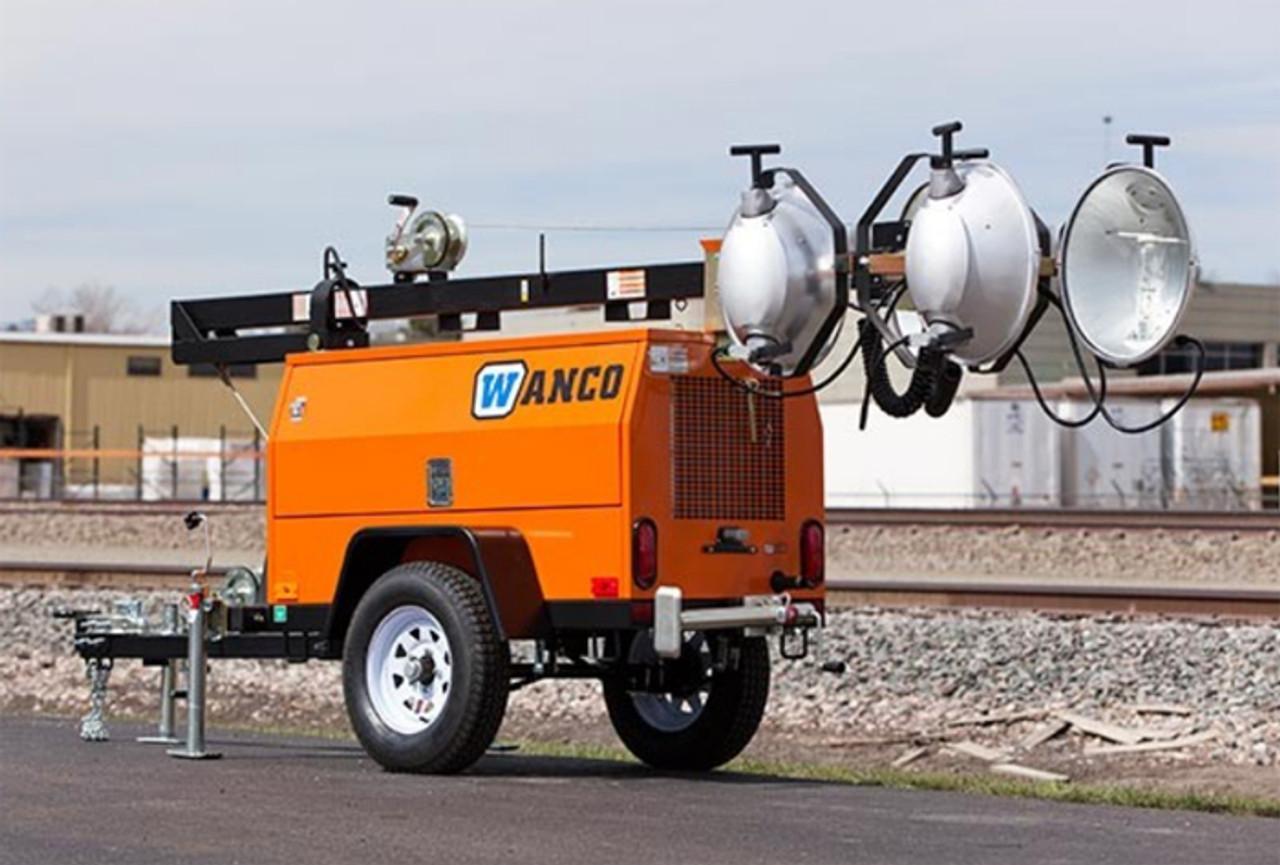 Wanco Portable Light Tower, Diesel Engine Powered