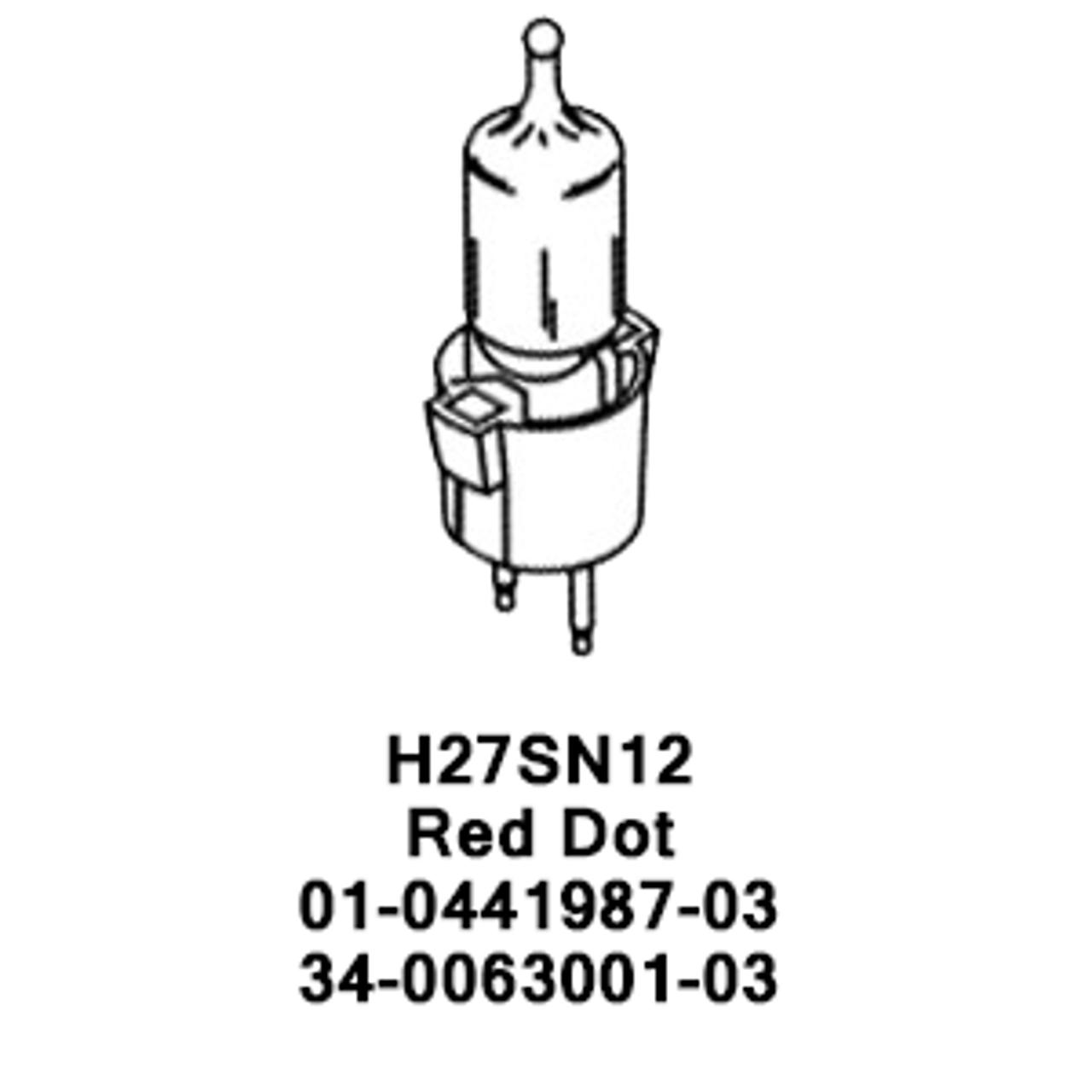 Whelen Replacement Halogen Bulb 27 Watt H27SN12