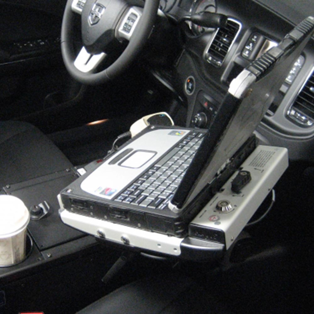 Charger Police Console 25 Inch by Havis 2011-Present, provides additional depth for mounting equipment