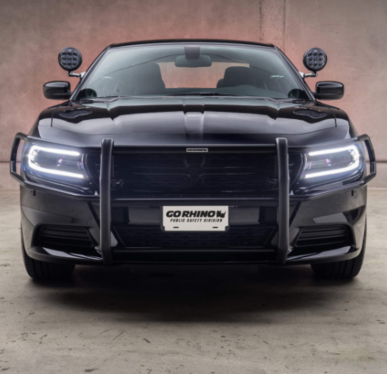 Go Rhino Dodge Charger Push Bumper With Wrap-around 2006-2019