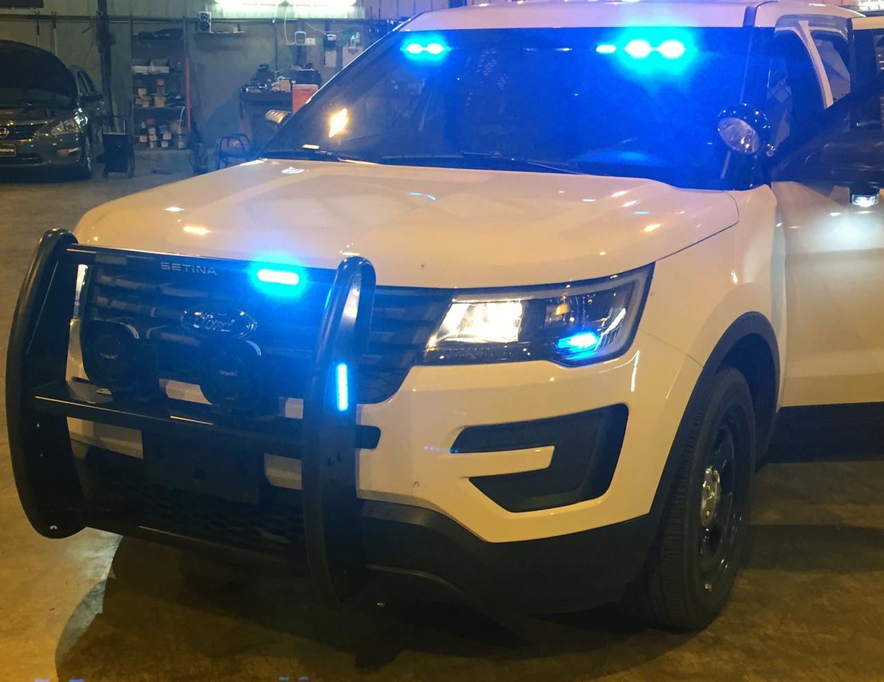 Setina LED Push Bumper PB-450-L Grill Guard for Police Cars SUVs Trucks and Vans