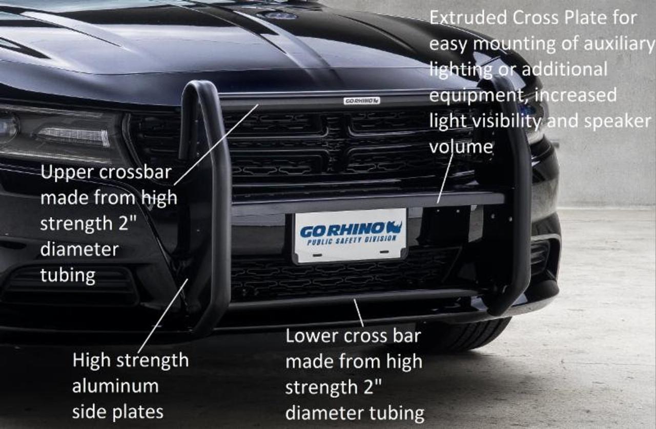 Go Rhino Dodge Charger Push Bumper 2006 2019