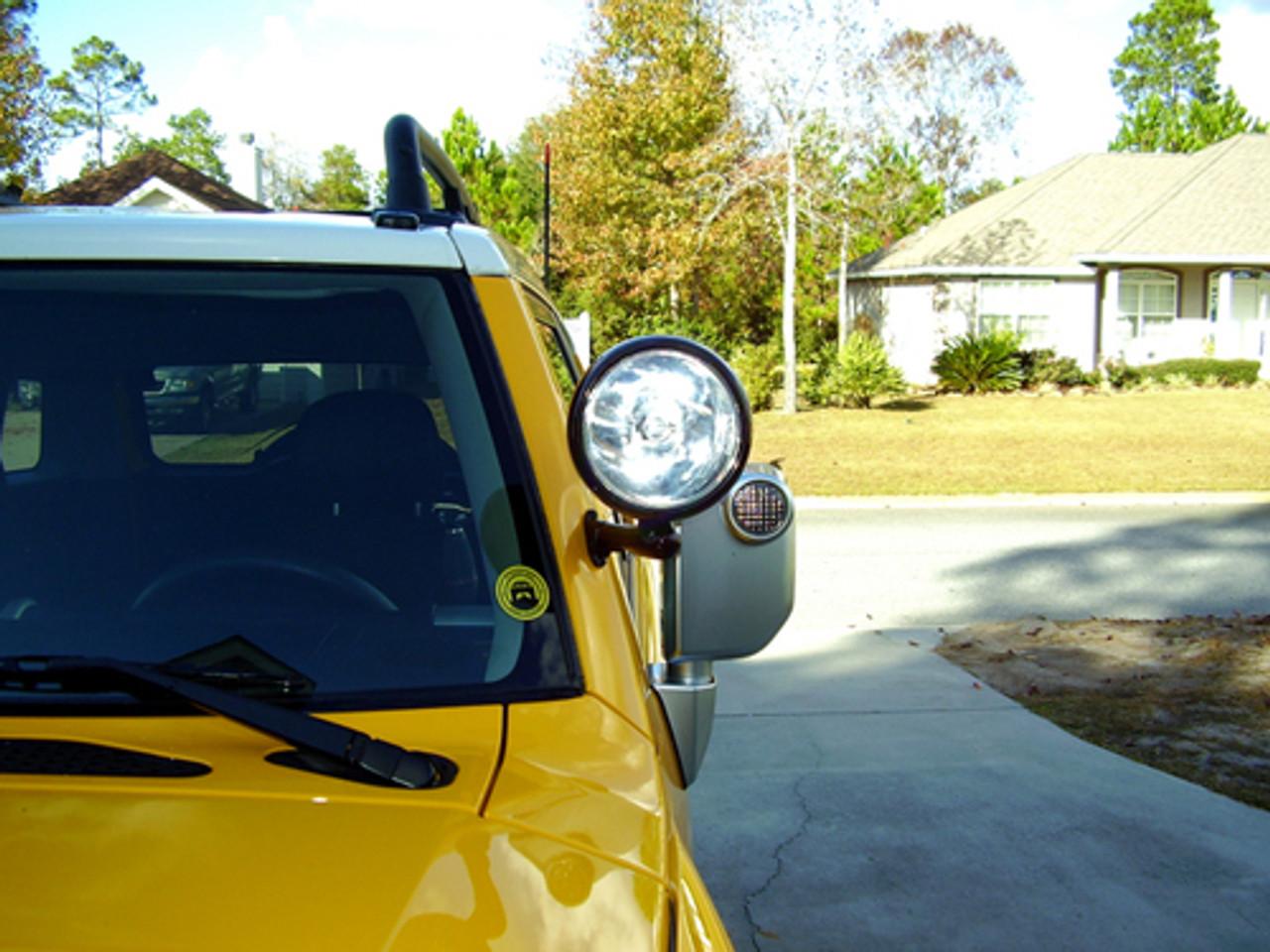 2012 Dodge trucks DURANGO Post mount spotlight -Black 6 inch Driver side WITH install kit 100W Halogen