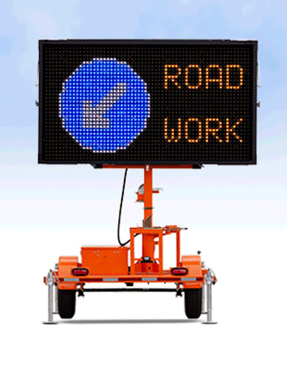 Wanco Color Message Board Sign and Trailer WVTM-5C, Full Graphic Display, Solar and Battery Powered