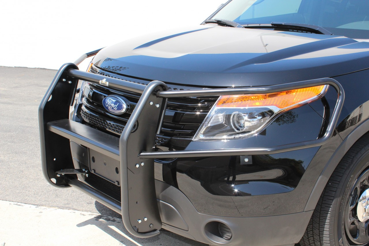 Bumper Guard For Suv >> Go Rhino Ford Police Interceptor Utility Suv Explorer Wrap Around Push Bumper 2013 2019