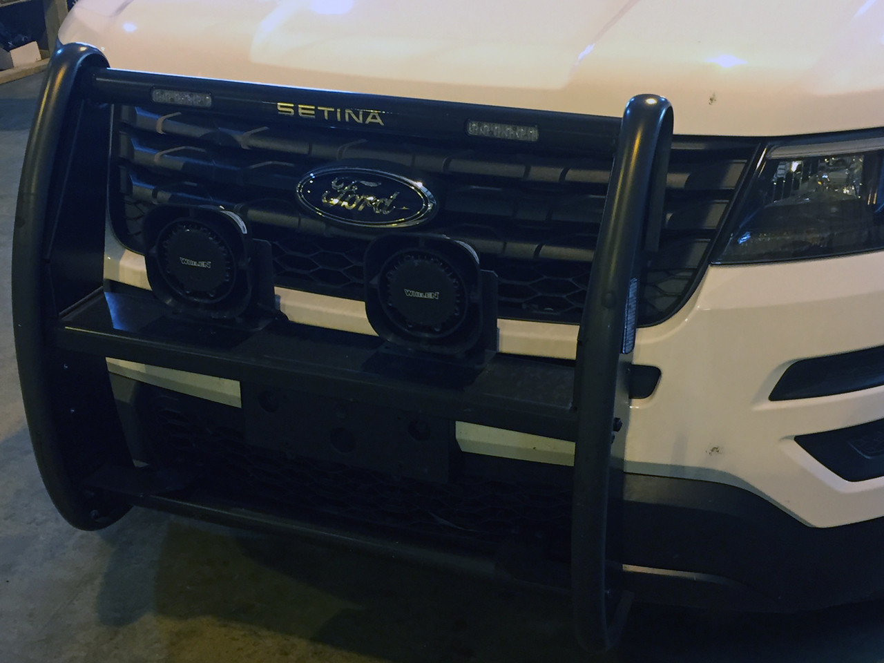 Setina Push Bumper PB400 Grill Guard for Cars SUVs Trucks and Vans- for Newer Year Model Police, Civilan, and Emergency Vehicles