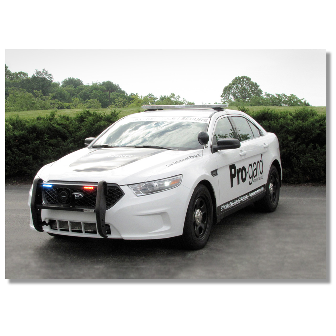 Police Interceptor Sedan Push Bumper Grill Guard by Progard, 2013-2019